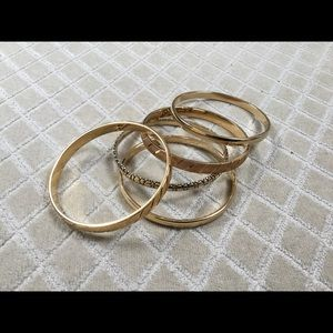 Lot of vintage Monet Goldtone bangles